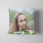 Young Beautiful Woman On Glade Blossoming Pillow Case Cover
