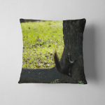 Squirrel Claimbing Tree Ambition Concept Pillow Case Cover