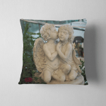 Statue Girl Boy Pillow Case Cover