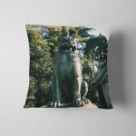Statue Called Guardian Dog Guarding Japanese Pillow Case Cover