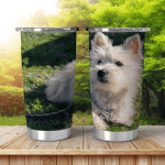 Small Portrait Dog Spain Shining Tumbler