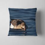 Statuette Shape Dachshund Dog Pillow Case Cover