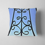 Steel Cage House Natural Sky Background Pillow Case Cover