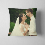 Young Bride Groom Standing Together Outdoor Pillow Case Cover