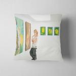 Young Caucasian Woman Standing Posing Art Pillow Case Cover