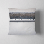 Steel Pipe Water Droplets White Backdrop Pillow Case Cover