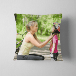 Young Mother Dresses Her Daughters Bicycle Pillow Case Cover
