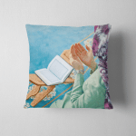 Young Muslim Woman Praying Mosque Quran Pillow Case Cover
