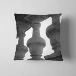 Stone Balustrade Black White Photo Pillow Case Cover