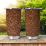 Soft Brown Woolen Sweater Texture Shining Tumbler