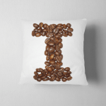 Z Capital Letter Coffee Design Pillow Case Cover