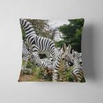 Zebra Statues Around Spirit House Pillow Case Cover