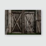 English Old Wood Gate Poster, Pillow Case, Tumbler, Sticker, Ornament