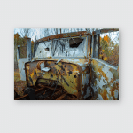 Abandoned Truck Left Outside Poster, Pillow Case, Tumbler, Sticker, Ornament