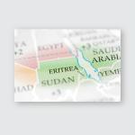 Eritrea On Map Poster, Pillow Case, Tumbler, Sticker, Ornament