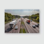 A12 Freeway Traffic Seen Above Poster, Pillow Case, Tumbler, Sticker, Ornament