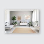 Burlap Artwork On Grey Wall Above Poster, Pillow Case, Tumbler, Sticker, Ornament