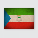 Equatorial Guinea Flag Pattern On Fabric Poster, Pillow Case, Tumbler, Sticker, Ornament