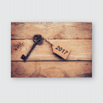 Business Concept Old Key Vintage On Poster, Pillow Case, Tumbler, Sticker, Ornament