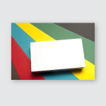Business Card Blank Over Colorful Abstract Poster, Pillow Case, Tumbler, Sticker, Ornament