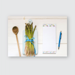 Bunch Fresh Asparagus On Wooden Table Poster, Pillow Case, Tumbler, Sticker, Ornament