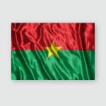 Burkina Flagabstract Blurred Background Poster, Pillow Case, Tumbler, Sticker, Ornament