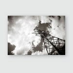 Photo Depicting One Highvoltage Powerful Electricity Poster, Pillow Case, Tumbler, Sticker, Ornament