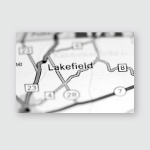Lakefield Canada On Map Poster, Pillow Case, Tumbler, Sticker, Ornament