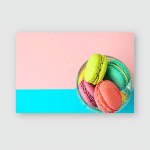 Sweet Colourful French Macaroons Stodio Photo Poster, Pillow Case, Tumbler, Sticker, Ornament