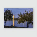 Burley Griffin Lake Dawn Canberra Poster, Pillow Case, Tumbler, Sticker, Ornament