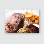 Lambchop Meal Potato Business Lunch Restaurant Poster, Pillow Case, Tumbler, Sticker, Ornament