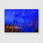Abstract Blue Yellow Background Unfocused Moved Poster, Pillow Case, Tumbler, Sticker, Ornament