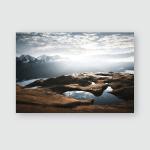 Lake Koruldi Near Mt Ushba Location Poster, Pillow Case, Tumbler, Sticker, Ornament