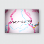 Aberchirder United Kingdom On Map Poster, Pillow Case, Tumbler, Sticker, Ornament