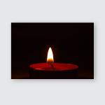 Burning Candlelight On Dark Backoground Poster, Pillow Case, Tumbler, Sticker, Ornament