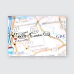 Eureka North Carolina Usa On Map Poster, Pillow Case, Tumbler, Sticker, Ornament