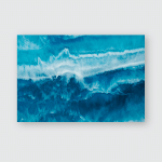 Abstract Ocean Painted Background Poster, Pillow Case, Tumbler, Sticker, Ornament