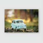 Car Vintage Background Toy Retro Small Poster, Pillow Case, Tumbler, Sticker, Ornament