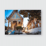 Temple Savannakhet Laos Poster, Pillow Case, Tumbler, Sticker, Ornament
