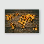 Caragana Arborescens Yellow Fallen Flowers Park Poster, Pillow Case, Tumbler, Sticker, Ornament