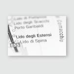 Lido Degli Estensi Italy On Map Poster, Pillow Case, Tumbler, Sticker, Ornament