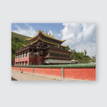 Temple Xining Pr China Poster, Pillow Case, Tumbler, Sticker, Ornament