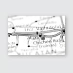 Piste Mexico On Map Poster, Pillow Case, Tumbler, Sticker, Ornament