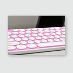 Pink Keyboard No Desk Poster, Pillow Case, Tumbler, Sticker, Ornament