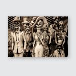 Figures Catrina Catrin Calavera Garbancera Mexican Poster, Pillow Case, Tumbler, Sticker, Ornament