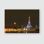 Templefireworkswat Arun Lightbangkokthailand Poster, Pillow Case, Tumbler, Sticker, Ornament