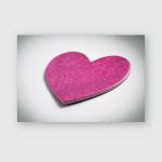 Pink Magenta Heart Love Symbol On Poster, Pillow Case, Tumbler, Sticker, Ornament