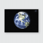 Planet Earth Solar System Space Far Poster, Pillow Case, Tumbler, Sticker, Ornament