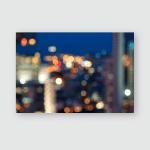 Abstract Urban Night Light Bokeh Defocused Poster, Pillow Case, Tumbler, Sticker, Ornament