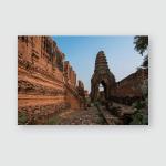 Castle Built Terracotta Ayudhya Period Phra Poster, Pillow Case, Tumbler, Sticker, Ornament